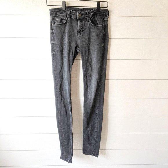Zara Black Slim Fit Medium Rise Jeans 6
